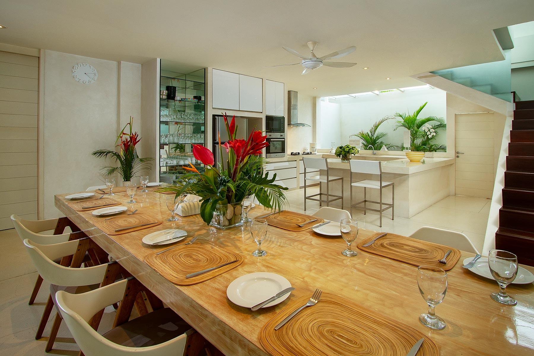 Villa Deva Bali Kitchen Dining Room Villa Deva